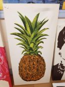 Pineapple Print On Canvas 500 X 1000mm