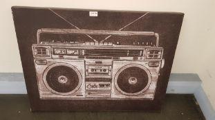 Ghetto Blaster Canvas Print By Barry Goodman (800 X 600 X 20mm)