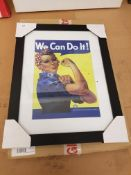 We Can Do It Framed Print 430 X 330mm