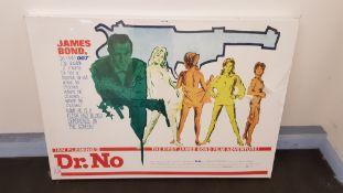James Bond Dr No Canvas Print (1200 X 600 X 25mm)