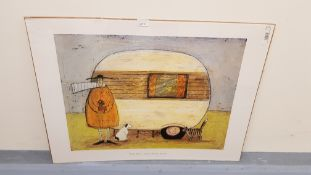 Home From Home Print By Sam Toft (800 X 600 mm)