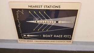 4 X Nearest Stations Boat Race 1923 Print (800 X 600mm)