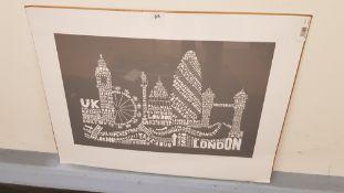 Citography London Grey Print (600 X 800 mm)