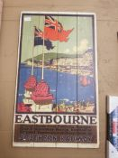 Eastbourne Southern Railway Print On Wood 460 X 760mm