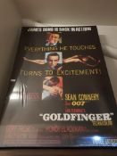 James Bond Goldfinger Movie Print On Canvas. 840 X 1200mm