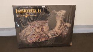 Lambretta Li Cutaway Canvas Print (800 X 600 X 20mm)