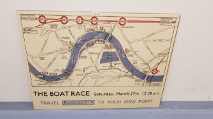 3 X The Boat Race Vintage Print (800 X 600mm)
