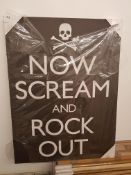 Now Scream And Rock Out Print On Canvas 600 X 800mm