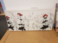 Poppy Print On Canvas 1000 X 500mm