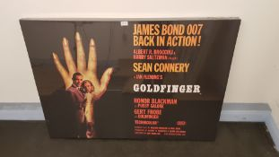James Bond Goldfinger Canvas Print (1200 X 860 X 23mm)