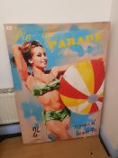 Pin-Up Parade. Issue No7 1958 Print On Canvas 850 X 1200mm