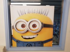 Large Minion Print On Canvas 850 X 850mm