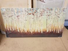 Autumn Woodland Print On Canvas 1000 X 500mm