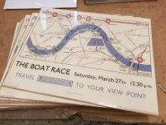 14 X The Boat Race, London Underground Prints. 500 X 400mm