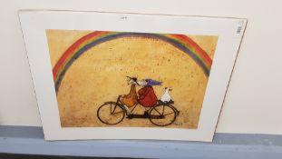 2 X Somewhere Under A Rainbow Print By Sam Toft (800 X 600mm)