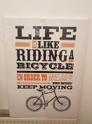 Life Is Like Riding A Bicycle Canvas Print (600 X 800 X 40mm)