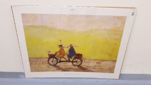 2 X Grand Day Out Print By Sam Toft (800 X 600mm)