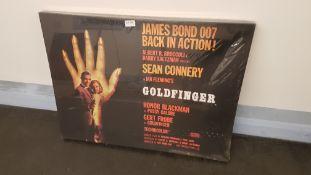 James Bond Goldfinger Canvas Print (800 X 600 X 20mm)