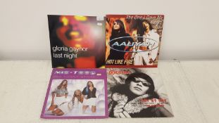 "4 X 12"" Vinyl. 1 X Gloria Gaynor Last Night, 1 X Aaliyah Hot Like Fire. 1 X Mis Teeq One Night"