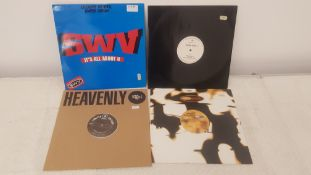 "4 X 12"" Vinyl. 1 X SWV It's all About You, 1 X Martine Girault Revival. 1 X Heavenly Limited Ed"