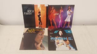 "4 xX 12"" Vinyl. 1 X Mica Paris Two In A Million, 1 X En Vogue Riddle. 1 X Shernette May All The"