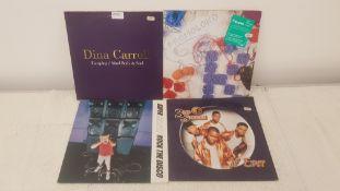 """4 X 12"""" Vinyl. 1 X Dina Carroll Escaping, 1 X Moloko Pure Pleasure Seeker. 1 X Super Charger Rock T"""