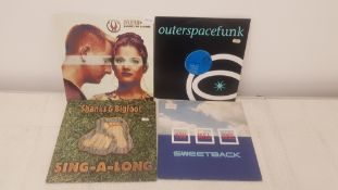 "4 X 12"" Vinyl. 1 X Dune Hand In Hand, 1 X OuterspaceFunk Two. 1 X Shanks & Bigfoot Sing A Long &"