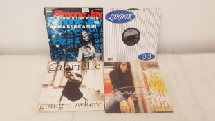 "4 X 12"" Vinyl. 1 X Simone Jay Wanna B Like A Man, 1 X Sugababes Overload. 1 X Gabrielle Going N"