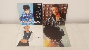 "4 X 12"" Vinyl. 1 X Rozalla Don't Go Lose It Baby, 1 X Keith Sweat Just A Touch. 1 X Robyn Show"