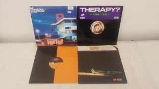 "4 X 12"" Vinyl. 1 X Lo Fidelity Allstars Lo Fis In Ibiza, 1 X Therapy? Teethgrinder. 1 X Echo Nr"