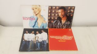 "4 X 12"" Vinyl. 1 X Karaja She Moves, 1 X Keith Sweat Just A Touch. 1 X One Twelve Peaches & Cre"