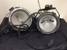 2x arri arrilite 2000 studio lighting - for parts