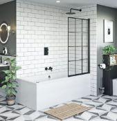 8mm Black Framed Bath Shower Screen RRP £225 (RDY24B8)
