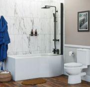 P Shape Shower Bath RH 1500 x 850 (NCEVE1585R). BATH ONLY
