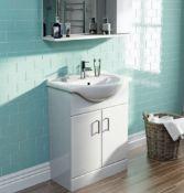 Salerno Eden White 650 Vanity Unit (MODW6501)