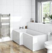 L Shape Shower Bath LH 1500 x 850 (NCBOS1585L). BATH ONLY