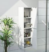 Carter 2 White Wall Cabinet RRP £265 (CWMSKY1001WH)