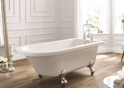 Bentham Single Ended Freestanding Bath White 1700 x 750 (28A1710). BATH ONLY