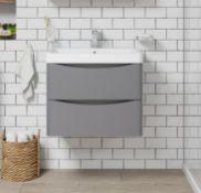 Adler grey wall hung vanity unit 600mm (ADWH60GREY)