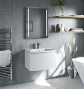 Foster matt white vanity unit 660mm (WVD660SWM)