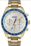 Hugo Boss 1513631 Men's Trophy Gold Tone Bracelet Quartz Chronograph Watch