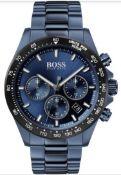 Hugo Boss 1513758 Men's Hero Sport Lux Blue Dial Blue Bracelet Chronograph Watch