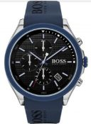 Hugo Boss 1513717 Men's Velocity Blue Silicone Strap Chronograph Watch