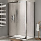 New & Boxed Twyford's 1000x900mm - Premium Easy clean Sliding Door Shower Enclosure. RRP £54...