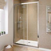 New Twyford's 1200mm Semi Framed Sliding Shower Door 8mm. RRP £562.99.This 1200mm Wide Slidi...