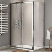 New Twyford's 1600x900mm - 8mm - Premium Easy clean Sliding Door Shower Enclosure. RRP £599...