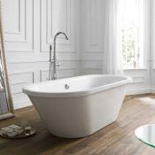 New (S169) Porcelanosa 1700x750mm Skirted Freestanding Bath. Freestanding Skirted Bath Is A Co...