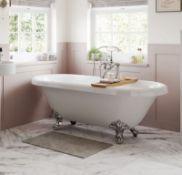 New (H5) 1690mm Richmond Freestanding White Bath With Chrome Feet. Richmond Freestanding White ...