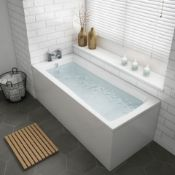 New 1700x700x545mm Whirlpool Jacuzzi Single Ended Bath - 6 Jets. RRP £1,299.99.Spa Experience...New