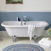 New (H1) Traditional Back To Wall Bath With Feet 1700mm x 800mm. Double Ended Classic Freesta...New